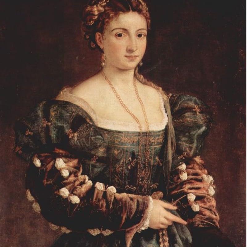"""Retrato cortesano """"La Bella"""" Tiziano 1537. Galería de los Oficios. Florencia."""