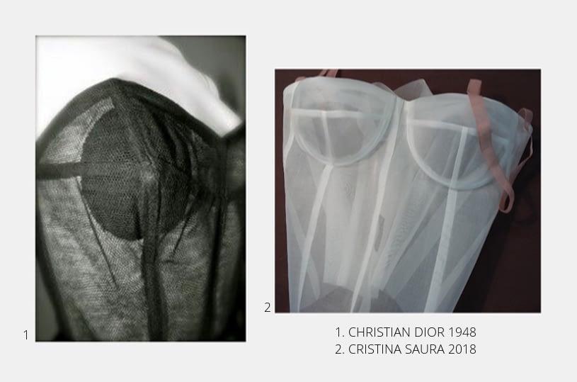 CORSETERÍA BAJO LOS VESTIDOS DE NOVIA DE ALTA COSTURA DE CRISTINA SAURA.