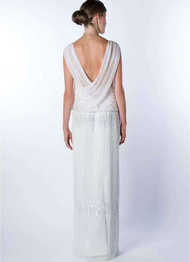 Subtle elegance and femininity expresses this original design for haute couture wedding dress signed by CRISTINA SAURA.